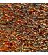 Dichroïque ripple rouge/orange sur noir - 96