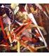 Petites chutes de verre - rouge/jaune/orange/ambre/pourpre